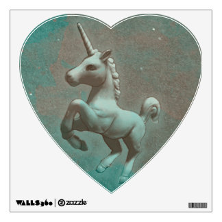 Unicorn Wall Decal Heart (Teal Steel)