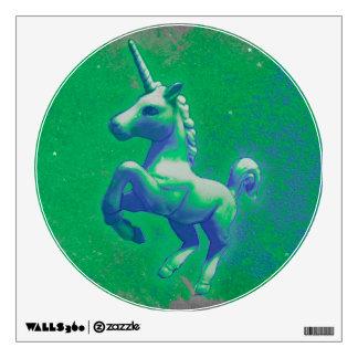 Unicorn Wall Decal Round (Glowing Emerald)