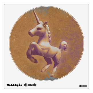Unicorn Wall Decal Round (Metal Lavender)