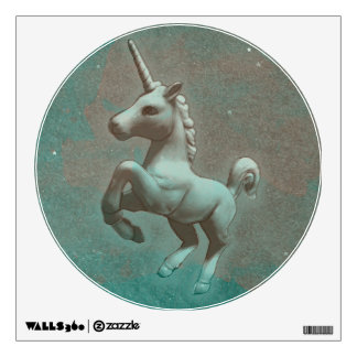 Unicorn Wall Decal Round (Teal Steel)