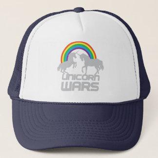 Unicorn Wars With Rainbow Trucker Hat