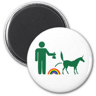 Unicorn Waste (Image Only) 2 Inch Round Magnet