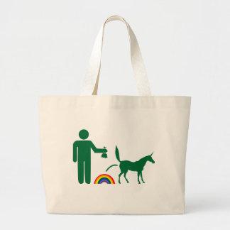 Unicorn Waste (Image Only) Large Tote Bag