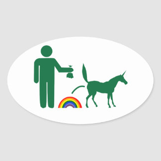 Unicorn Waste (Image Only) Oval Sticker