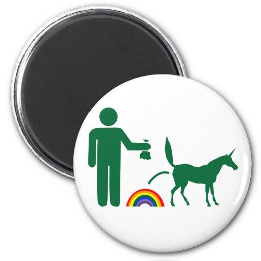 Unicorn Waste (Image Only) Refrigerator Magnets