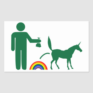 Unicorn Waste (Image Only) Rectangle Sticker