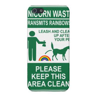Unicorn Waste Sign iPhone case