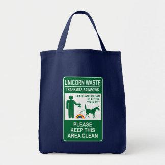 Unicorn Waste Sign Tote Bag