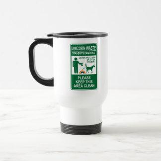 Unicorn Waste Sign Travel Mug