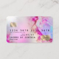 Unicorn watercolor art Credit Card Style Gold