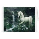 Unicorn Waterfall Greeting Card