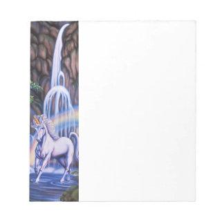 Unicorn Waterfall Notepad