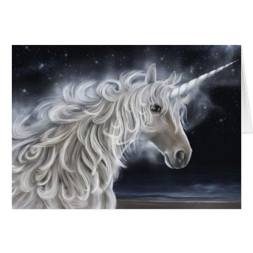 unicorn waves card