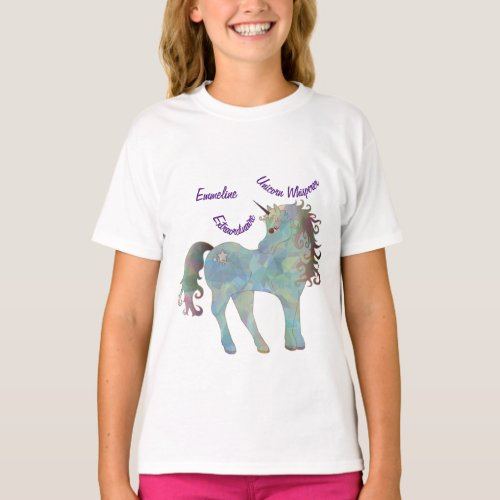 Unicorn Whisperer I Love Unicorns Personalize Name T_Shirt