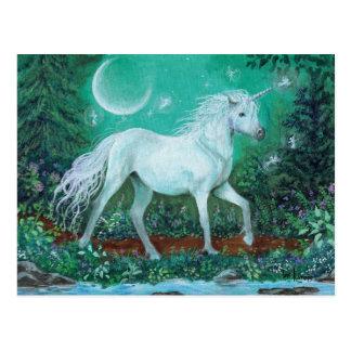 Unicorn Whispering Pines Postcard