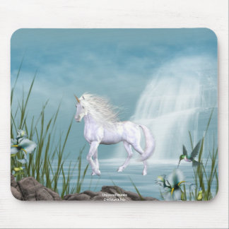 Unicorn White Beauty 1 Mouse Pad