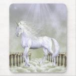 Unicorn White Beauty Mouse Pad