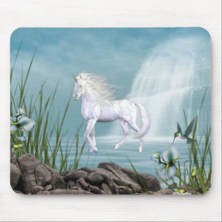 Unicorn White Beauty Mouse Mats