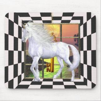 Unicorn White Beauty Mousepad 7