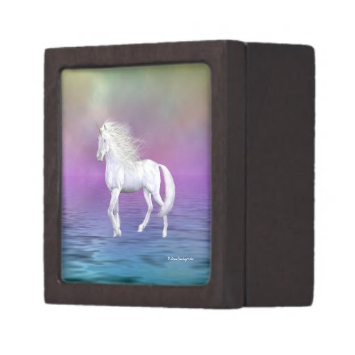 Unicorn White Beauty Portrait Premium Gift B Jewelry Box
