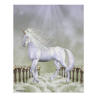 Unicorn White Beauty Posters