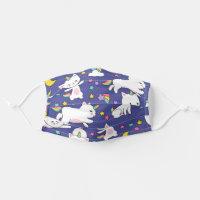 Unicorn White Cats Cloth Face Mask