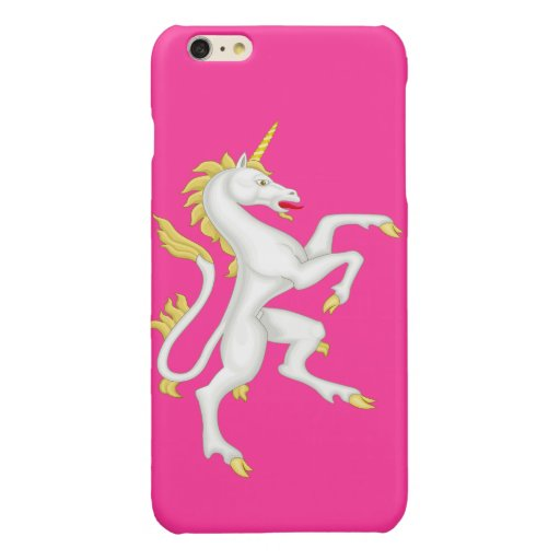 Unicorn with Golden Horn and Tail Glossy iPhone 6 Plus Case