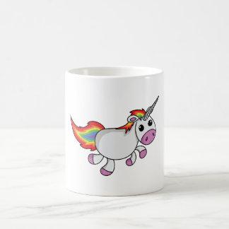 Unicorn with Rainbow Mane and Tail Coffee Mug