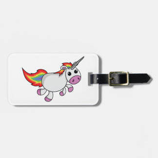 Unicorn with Rainbow Mane and Tail Tags For Luggage