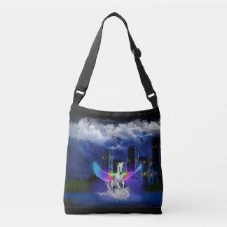 Unicorn With Rainbow Wings Crossbody Bag
