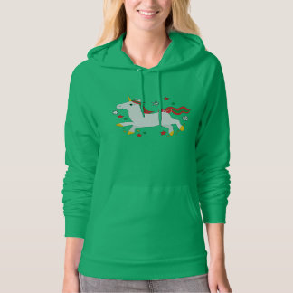 Unicorn with Stars at Christmas Hoody