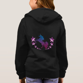 Unicorn with stars hoodie