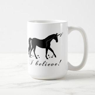 Unicorn with Stars: I Believe! Coffee Mug
