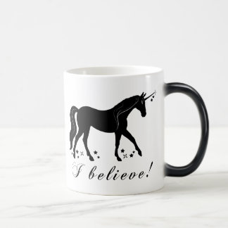Unicorn with Stars: I Believe! Magic Mug