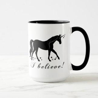 Unicorn with Stars: I Believe! Mug