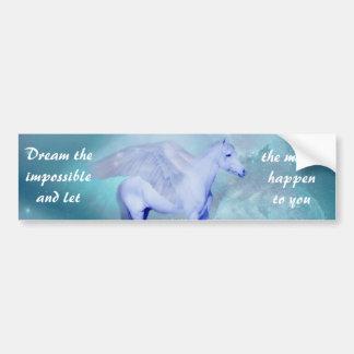 Unicorn with wings fantasy bumper sticker