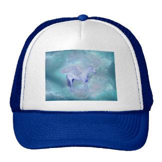 Unicorn with wings fantasy trucker hats