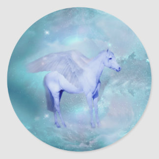 Unicorn with wings fantasy sticker