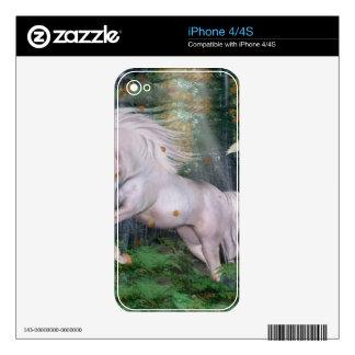 Unicorn Wood Forest Magic Stars Autumn Bird iPhone 4 Decals