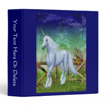 Unicorn Woodland Gate Fantasy Horse Binder