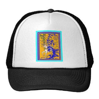 Unicorn Woodvine on Gold & Royal Blue by Sharles Hats