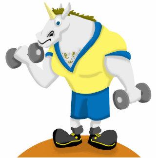 Unicorn Workout Cutout Sculpture Standing Photo Sculpture