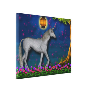 Unicorn World Wrapped Canvas Stretched Canvas Print