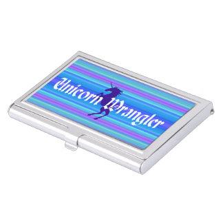 """""""Unicorn Wrangler"""" Business Card Holder"""