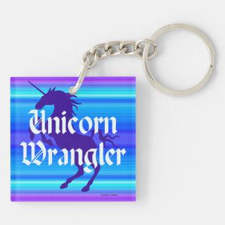 """""""Unicorn Wrangler"""" Keychain"""