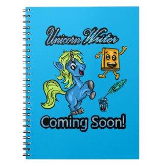 Unicorn Writer - Coming Soon! Spiral Notebook