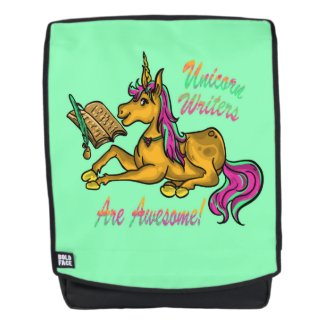 Unicorn Writers Are Awesome Backpack