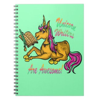 Unicorn Writers Are Awesome Notebook