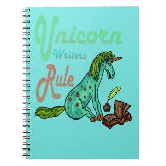 Unicorn Writers Rule Notebook