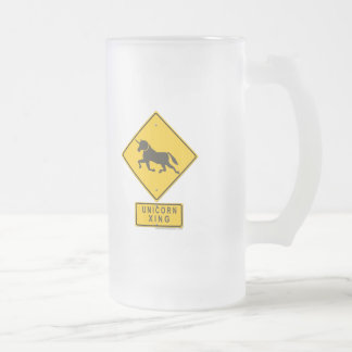 Unicorn XING Frosted Glass Beer Mug